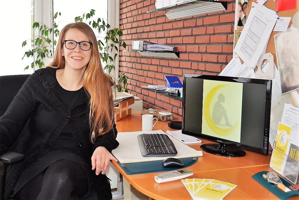 Unsere hauptamtliche Psychologin Nadine Thiel berät Sie gerne.